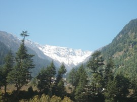 View of Rohtang from Manali